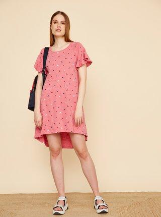 Ružové vzorované šaty ZOOT Baseline Mahulena