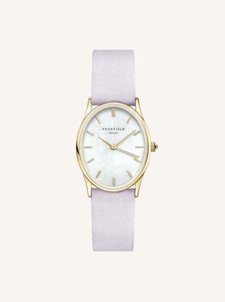 Dámske hodinky so svetlofialovým koženým remienkom Rosefield