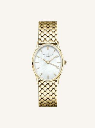 Dámske hodinky s nerezovým remienkom v zlatej farbe Rosefield Rosefield