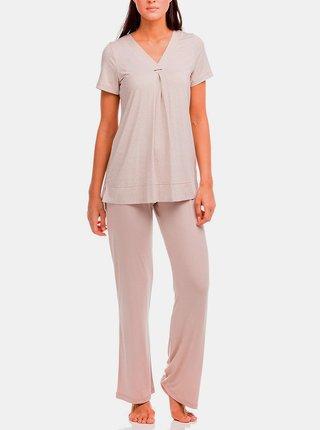 Dámské pyžamo Electra 12210-505 béžová - Vamp