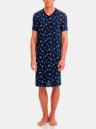 Pánská noční košile 12693-180 tmavě modrá - Vamp