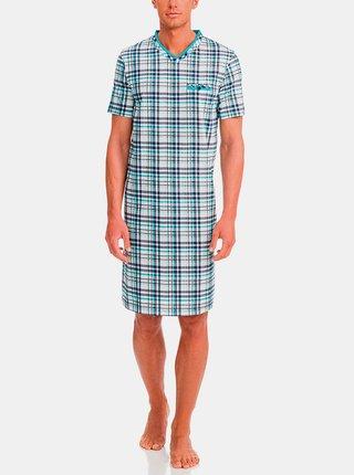 Pánská noční košile 12724-253 modro-bílá - Vamp