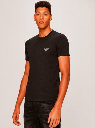 Pánské tričko 110853 9A524 00020 černá - Emporio Armani