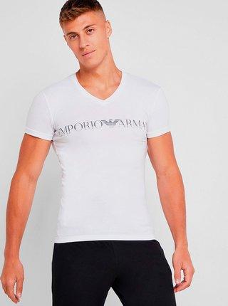 Pánské tričko 110810 9A516 00010 bílá - Emporio Armani