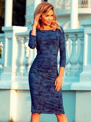 Dámské šaty 59-9 - Numoco tmavě modrá - vzor