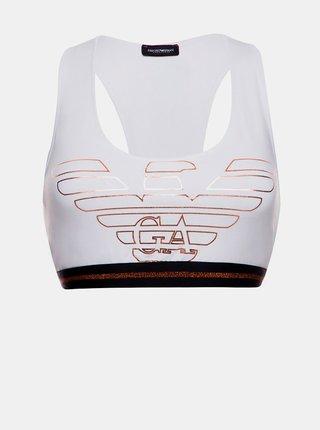 Sportovní podprsenka 164212 9A232 00010 bílá - Emporio Armani bílá
