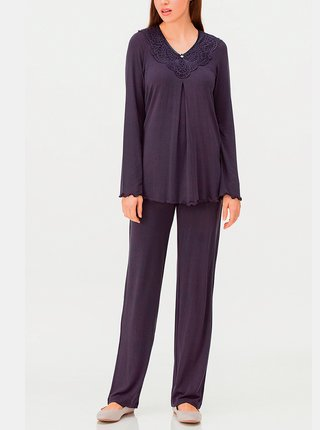 Dámské pyžamo 11155-240 tmavě modrá - Vamp tm.modrá
