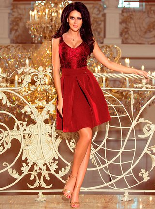 Dámské šaty 208-3 - Numoco vínová