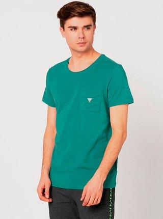 Pánské tričko U94M04JR04Q-C793 zelená - Guess zelená