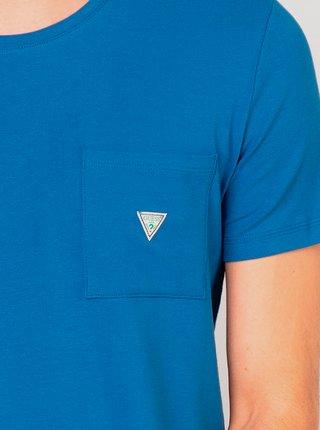 Pánské tričko U94M04JR04Q-E714 modrá - Guess modrá