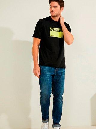 Pánské tričko U1GA23 J1311 - JBLK černá - Guess černá