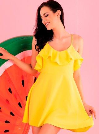 Dámské šaty model P43891 - Merribel lemon