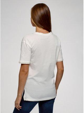 Tričko volného střihu s kulatým výstřihem OODJI