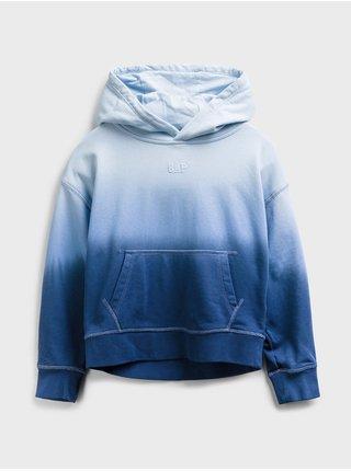 Modrá klučičí dětská mikina dip-dye hoodie