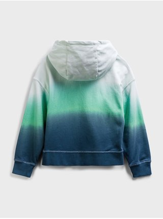 Zelená klučičí dětská mikina dip-dye hoodie