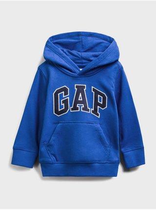Modrá klučičí dětská mikina GAP Logo front pocket hoodie