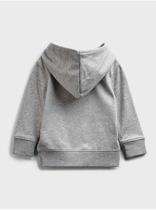 Šedá klučičí dětská mikina GAP Logo front pocket hoodie
