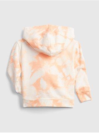 Oranžová holčičí dětská mikina GAP Logo flash hoodie
