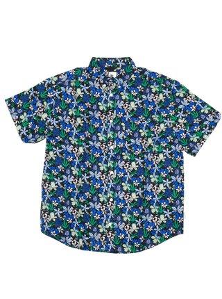 Element GLASTONBURY GREEN GARDEN košile pro muže krátký rukáv - barevné