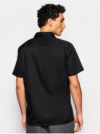 Vans ARCADIA black košile pro muže krátký rukáv - černá