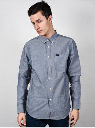 RVCA THATLL DO STRETCH OXFORD BLUE pánské košile s dlouhým rukávem - modrá