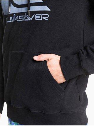 Quiksilver COMP LOGO SCREEN black mikiny přes hlavu pánská - černá