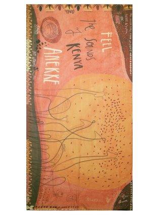 Anekke oranžové šatka Kenya