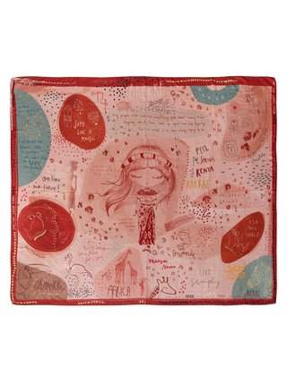 Anekke cihlový šátek Kenya