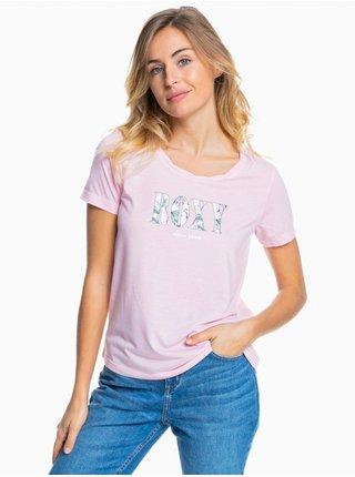 Roxy CHASING THE SWELL B PINK MIST dámské triko s krátkým rukávem - růžová