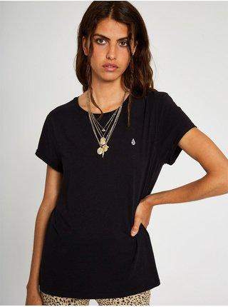 Volcom Stone Blanks black dámské triko s krátkým rukávem - černá