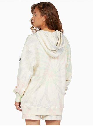 Dc TRIPPIN ANTIQUE WHITE SWIRL mikina dámská - barevné