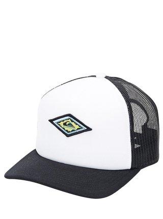 Quiksilver MONGREL FLAME white baseballová kšiltovka - černá