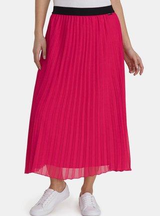Ružová dámska plisovaná midi sukňa SAM 73