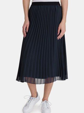Tmavě modrá dámská plisovaná midi sukně SAM 73