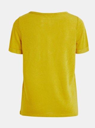 Žluté tričko s kapsou .OBJECT Tessi