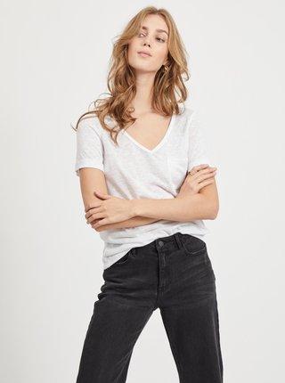 Bílé tričko s kapsou .OBJECT Tessi