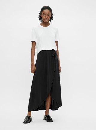 Černá zavinovací maxi sukně .OBJECT Jannie