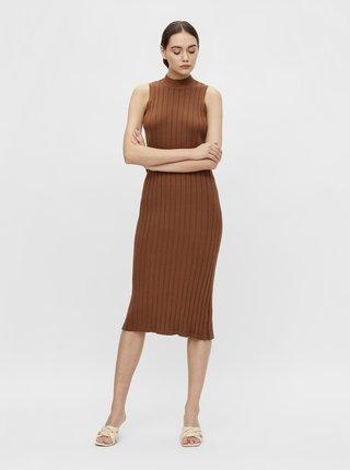 Šaty na denné nosenie pre ženy .OBJECT - hnedá