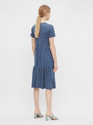 Modré puntíkované šaty .OBJECT Stephanie