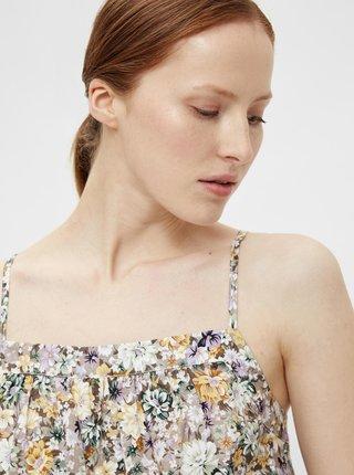 Krémové květované šaty .OBJECT Jasia