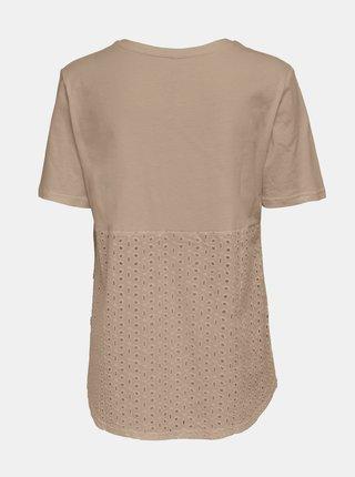 Béžové basic tričko ONLY Mette