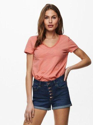 Korálové basic tričko ONLY Kendall