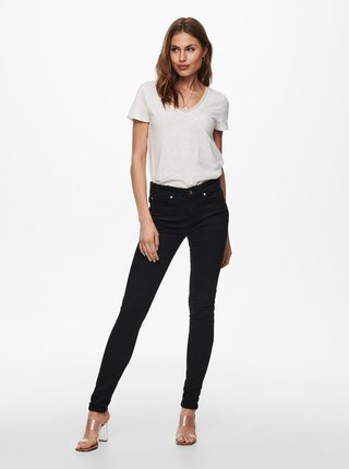 Krémové basic tričko ONLY Kendall