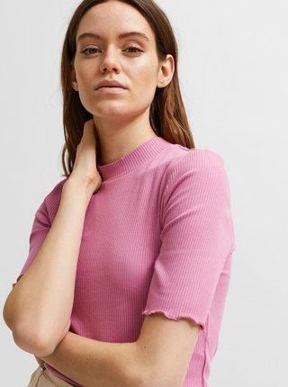 Ružové tričko Selected Femme Fanna