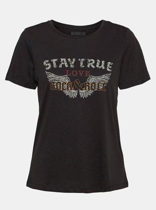 Tmavošedé tričko s potlačou Noisy May Nate