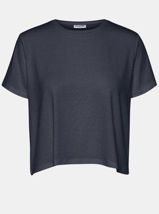 Tmavě modré volné basic tričko Noisy May Elly