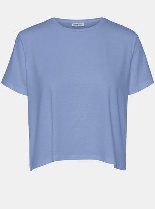 Modré voľné basic tričko Noisy May Elly