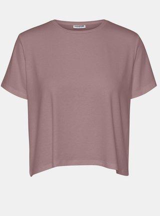Starorůžové volné basic tričko Noisy May Elly