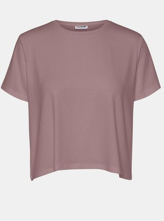 Staroružové voľné basic tričko Noisy May Elly
