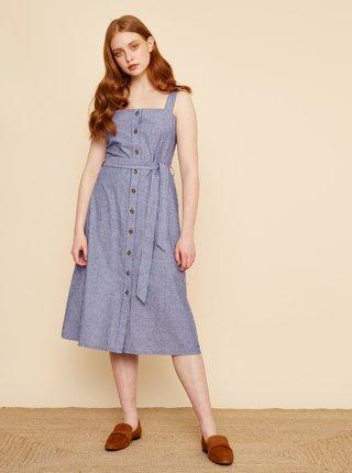 Bílo-modré pruhované šaty se zavazováním ZOOT Robyn